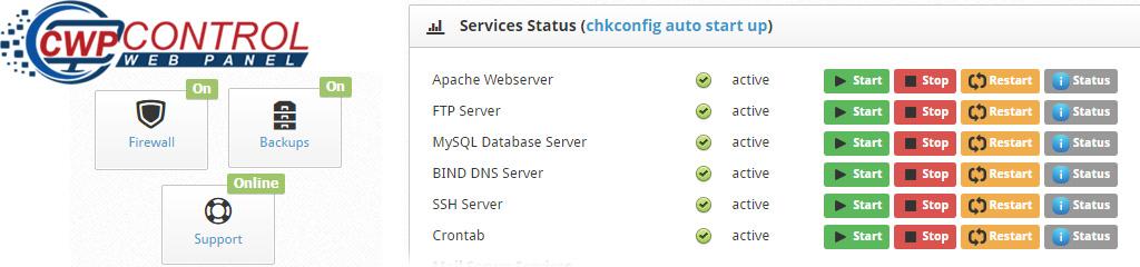 Centos Web Panel - Basic Configuration